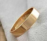 Обручальные кольца Американка 5 мм 15,16,17,18,19, 20, 21, 22, 23, 24 размер, медзолото, медицинское золото