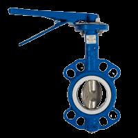Затвор дисковый поворотный межфланцевый чугунный PN16 /диск-чугун GGG40/PTFE/ ДУ250