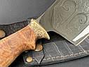 """Нож-секач ручной работы """"Медведь"""" в кожаных ножнах, фото 2"""