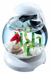 Аквариумный набор Tetra Cascade Globe 6.8 л для петушка и золотой рыбки Белый