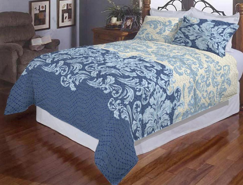 """Комплект постельного белья  """"Афины синие"""" евро размер"""