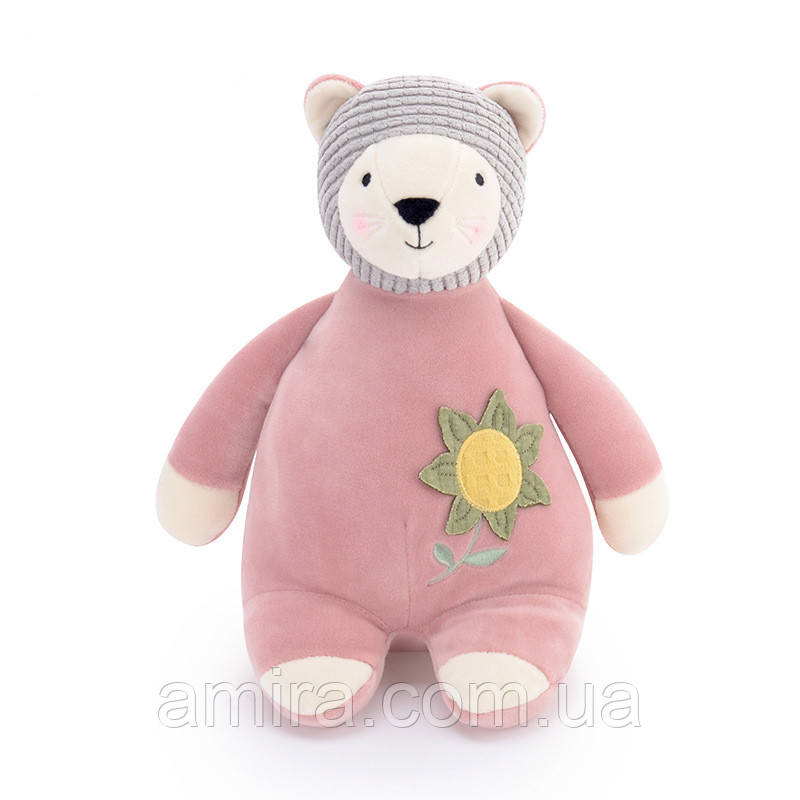 Мягкая игрушка Розовый мишка, 28 см Metoys