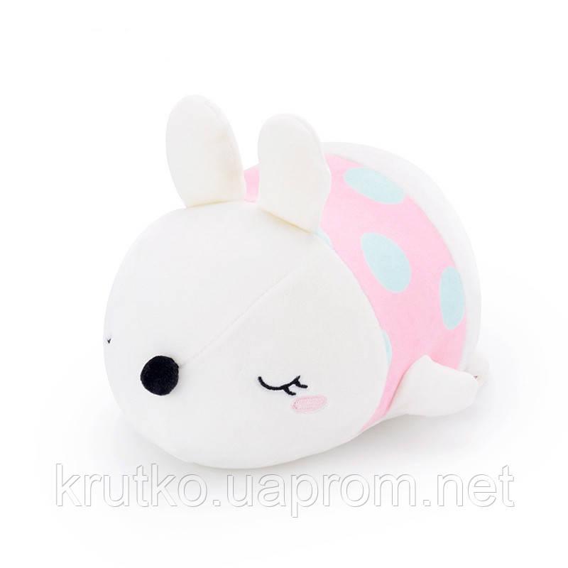 Мягкая игрушка Кролик розовый, 21 см Metoys