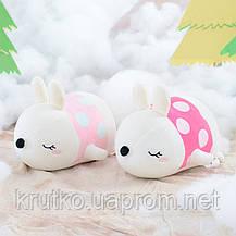Мягкая игрушка Кролик фуксия, 21 см Metoys, фото 2