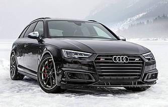 Решетка радиатора Audi A4 B9 стиль S4 (черная) Black Optics Package