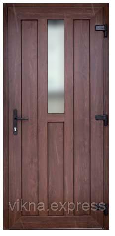 Входные двери ламинация снаружи орех 3400 грн м кв