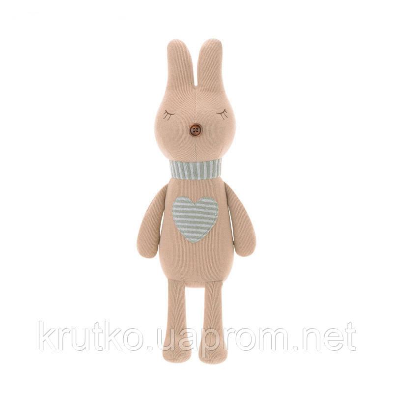 Мягкая игрушка Кролик с сердцем, 42 см Metoys
