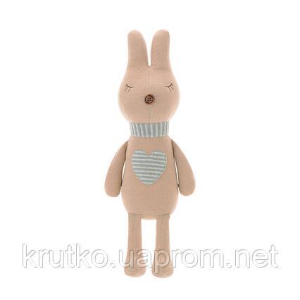 Мягкая игрушка Кролик с сердцем, 42 см Metoys, фото 2
