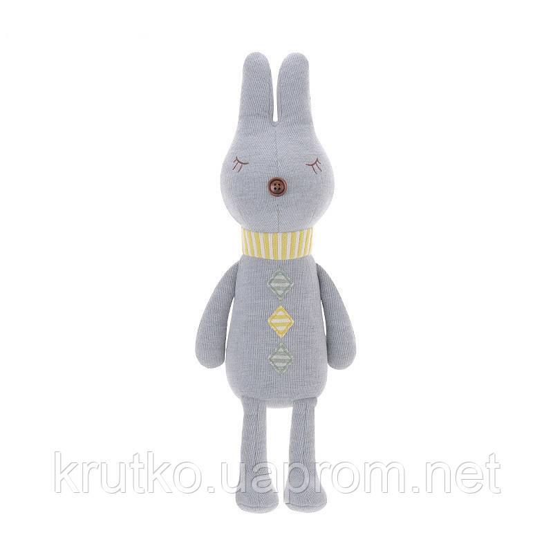 Мягкая игрушка Кролик серый, 42 см Metoys