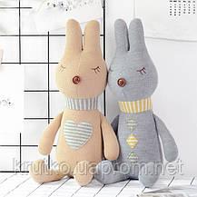 Мягкая игрушка Кролик серый, 42 см Metoys, фото 2