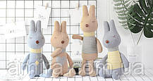 Мягкая игрушка Кролик серый, 42 см Metoys, фото 3