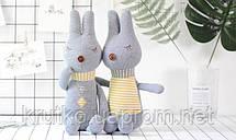 Мягкая игрушка Кролик в полоску, 42 см Metoys, фото 3