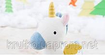 Мягкая игрушка Белый единорог, 23 см Metoys, фото 2