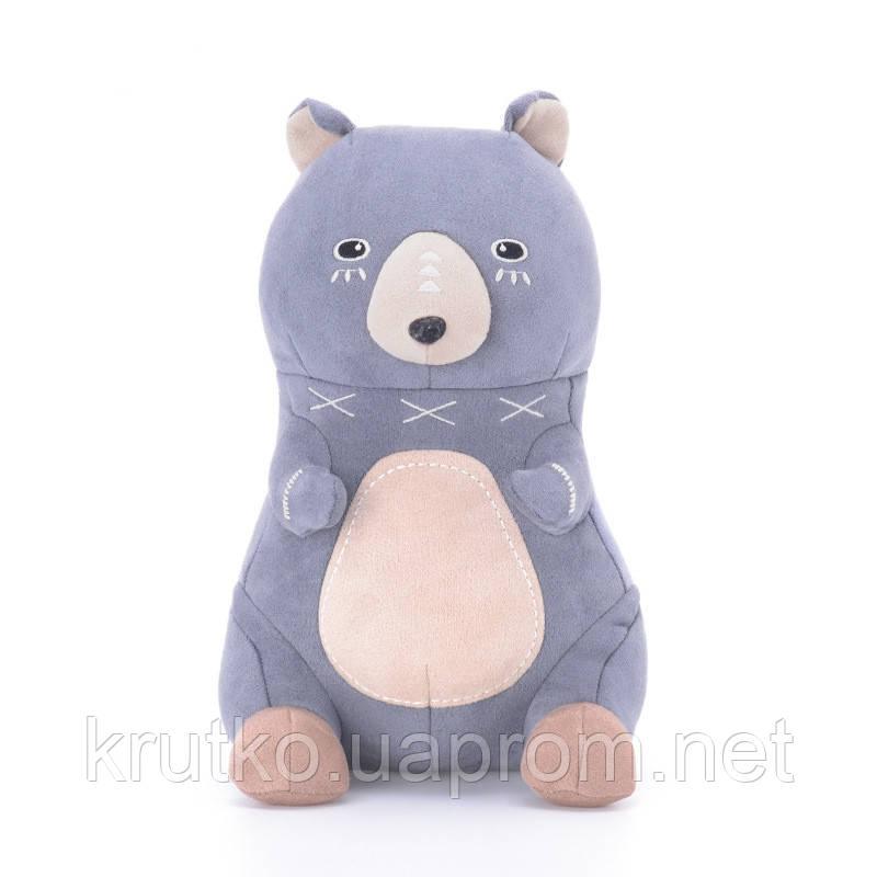 Мягкая игрушка Серый мишка, 22 см Metoys
