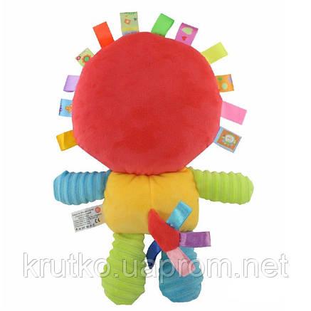 Мягкая игрушка - погремушка Львенок Happy Monkey, фото 2