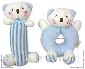 Набор мягких игрушек - погремушек Медвежата Mami and Beby, фото 2