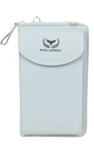 Женский кошелек Wallerry ZL8591 - Голубой