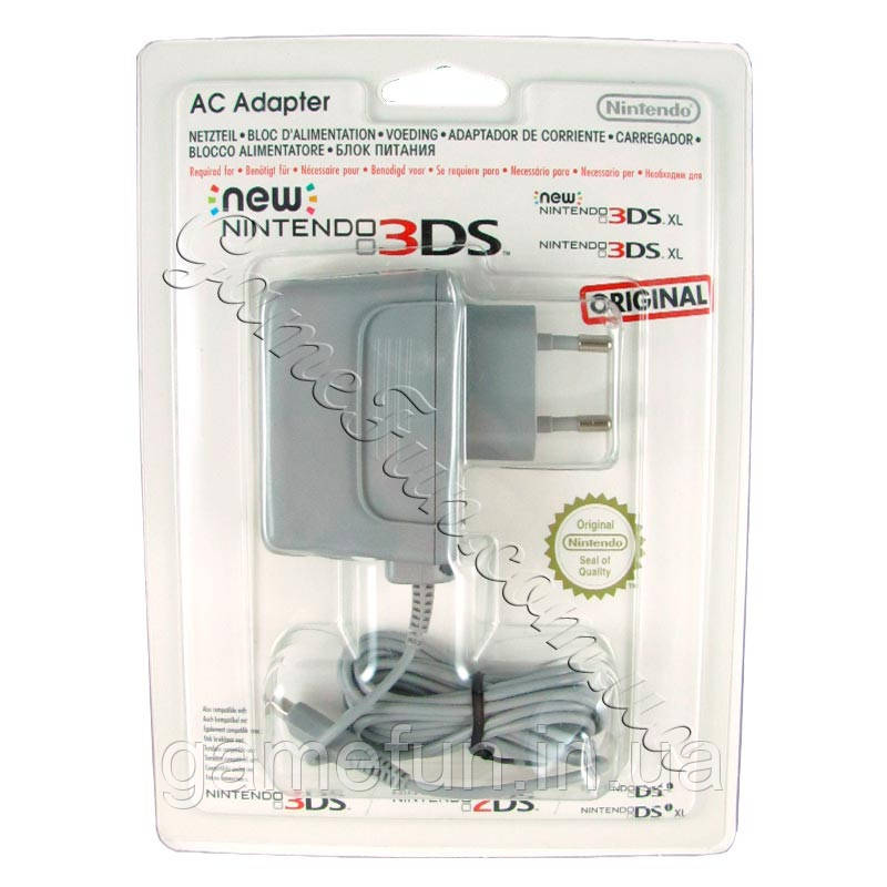 Зарядное устройство Nintendo 3DS/New 3DS/DSi/DSi XL(Оригинал)