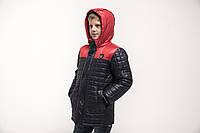 Куртка демисезонная на мальчика сине-красная