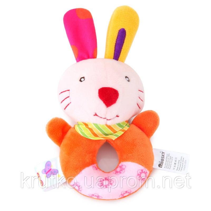 Мягкая погремушка Кролик BBSKY