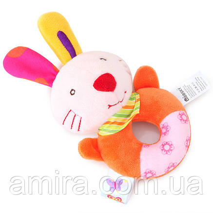 Мягкая погремушка Кролик BBSKY, фото 2