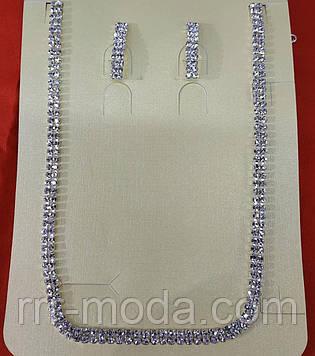 161 Недорогие свадебные комплекты бижутерии- серьги с колье оптом