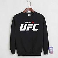 Спортивная кофта Reebok, Рибок, свитшот, трикотаж, мужской, черного цвета, копия