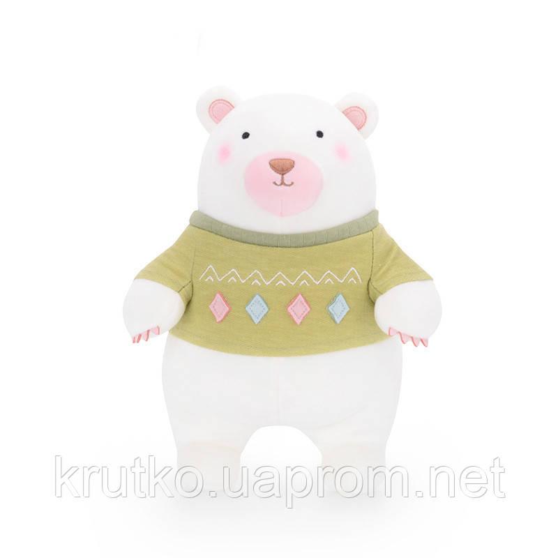 Мягкая игрушка Мишка в зеленом свитере, 35 см Metoys