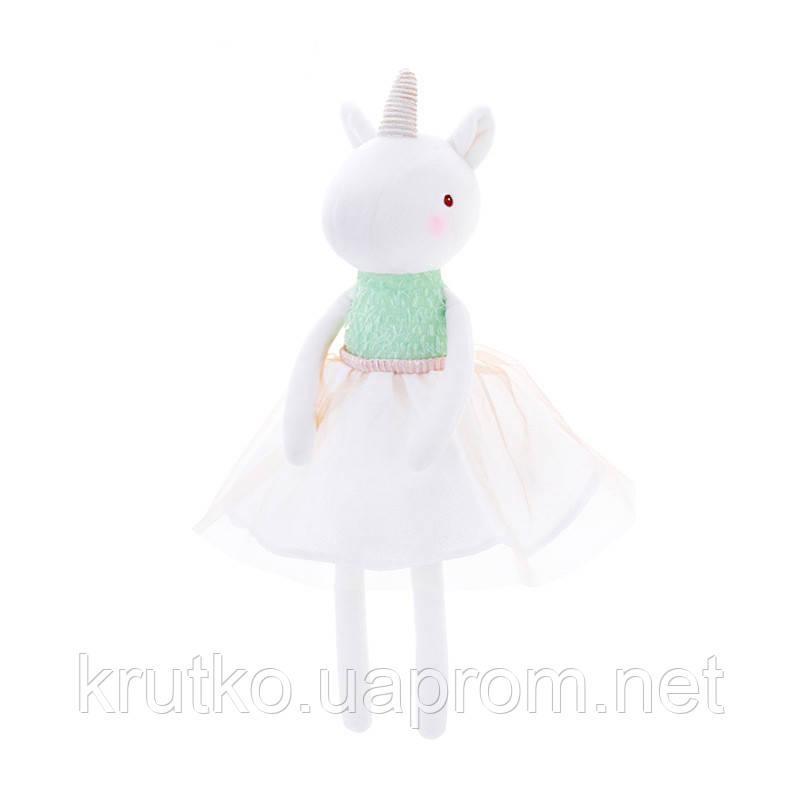 Мягкая игрушка Единорог в белой юбке, 53 см Metoys