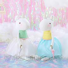 Мягкая игрушка Единорог в белой юбке, 53 см Metoys, фото 3