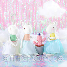 Мягкая игрушка Единорог в белой юбке, 53 см Metoys, фото 2
