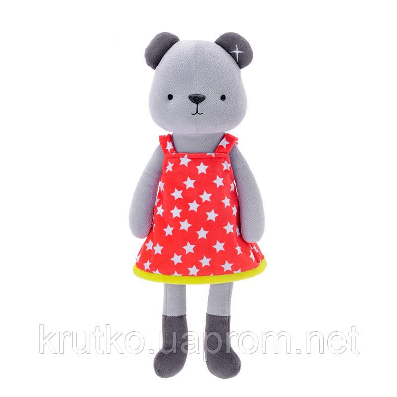 Мягкая игрушка Медвежонок в красном платье, 35 см Metoys