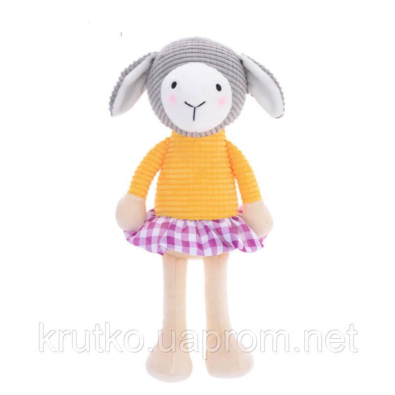 Мягкая игрушка Овечка в желтой кофте, 24 см Metoys