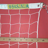 Волейбольная сетка безузловая «ЕВРО» с паракордом, белая