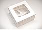 Коробка для 4 кексов маффинов капкейков  с окошком, фото 2