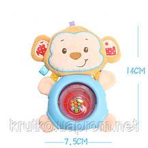 Игрушка - погремушка Обезьянка Happy Monkey, фото 3