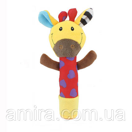 Мягкая погремушка Жираф Dolery, фото 2