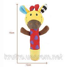 Мягкая погремушка Жираф Dolery, фото 3