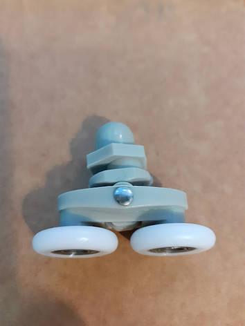 Ролик для душевой кабины двойной 10009 (25 мм) ANGO, фото 2