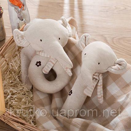 Набор мягких игрушек - погремушек Слонята  Dolery, фото 2