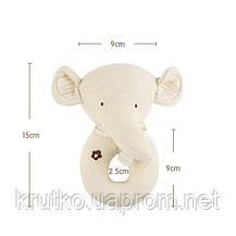 Набор мягких игрушек - погремушек Слонята  Dolery, фото 3