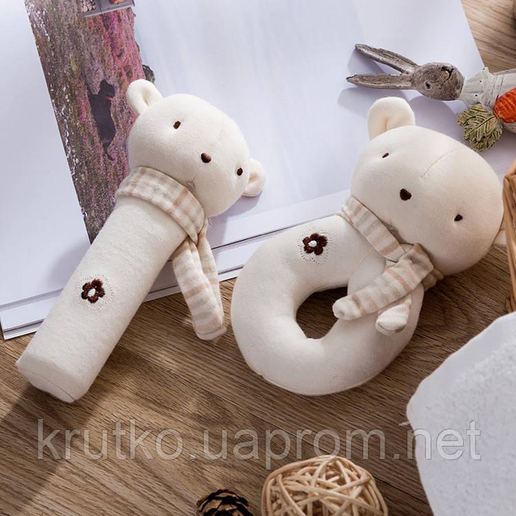 Набор мягких игрушек - погремушек Медвежата Dolery