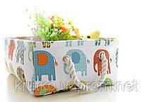 Корзина для игрушек, белья, хранения Слоны Berni, фото 3
