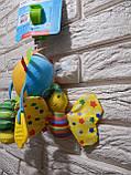 """Подвеска с погремушкой и вибрацией """"Забавный шарик"""" Mioobaby, фото 2"""
