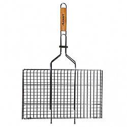 Решетка для барбекю Скаут  с деревяной ручкой 45х26 см h2 см метал (0717 Скаут)