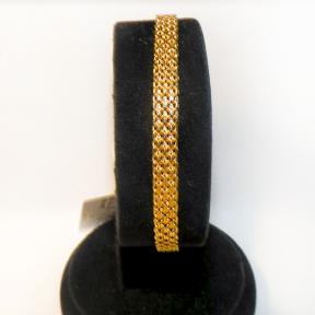 Золотой мужской браслет Широкий Якорь