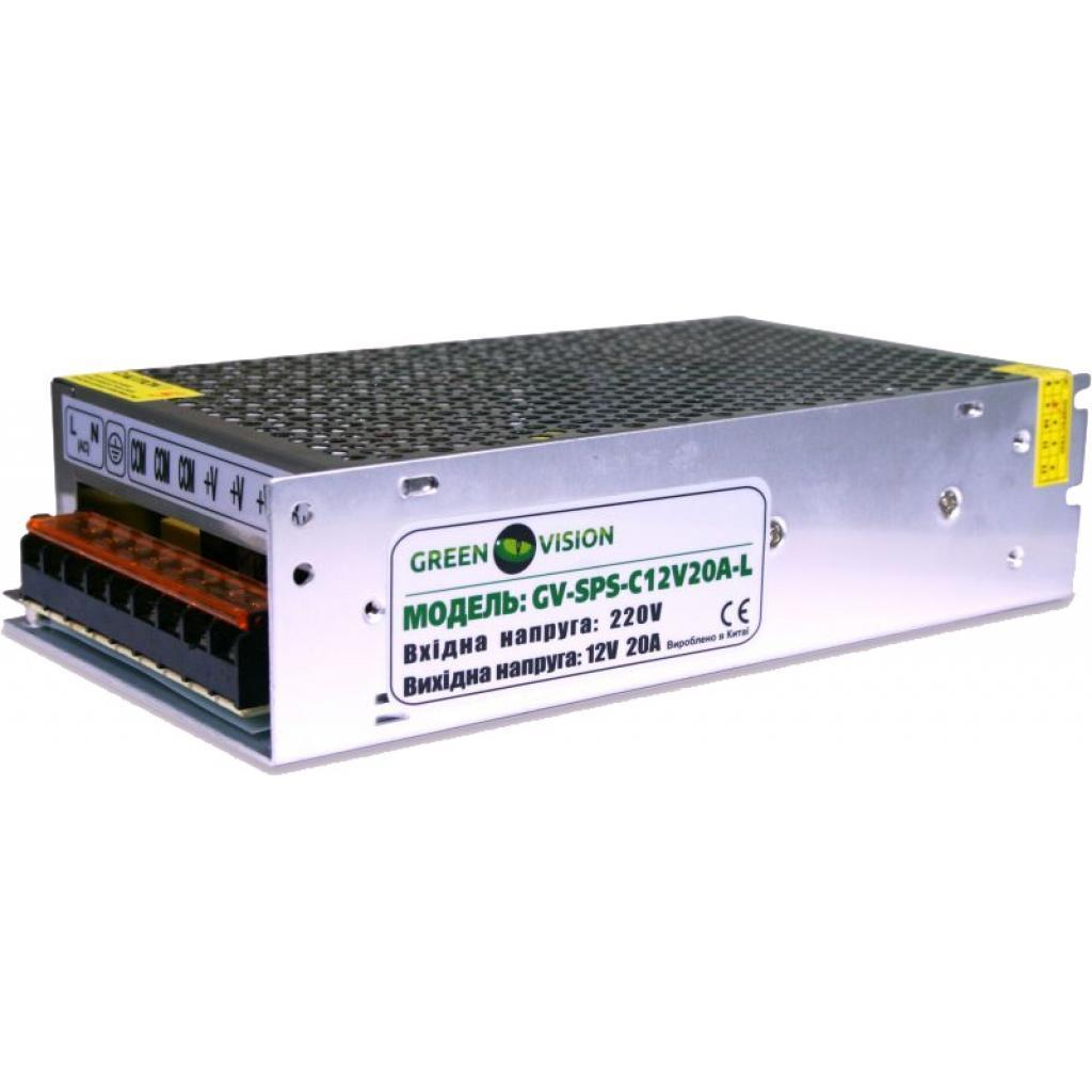 Блок питания для систем видеонаблюдения GreenVision GV-SPS-C 12V20A-L (3451)