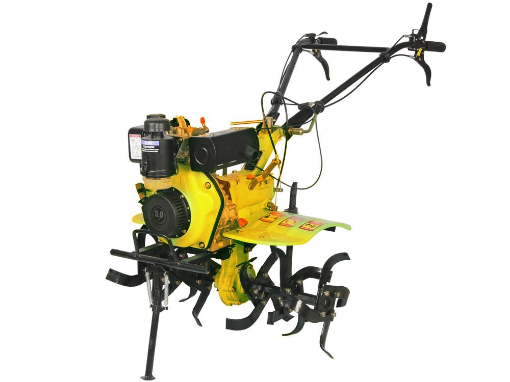 Дизельный мотоблок Кентавр МБ2050 Д М2 ( 5 л.с., ручной стартер, воздушное охлаждение, Желтый)