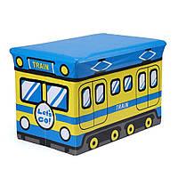 Пуф-ящик для игрушек Поезд Berni