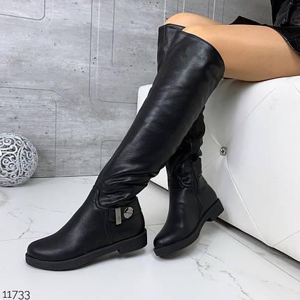 Сапоги зимние на низком каблуке, фото 2